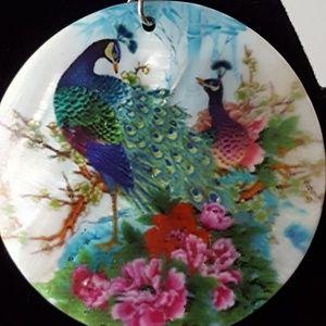 Accessories - Pair of peacock earrings
